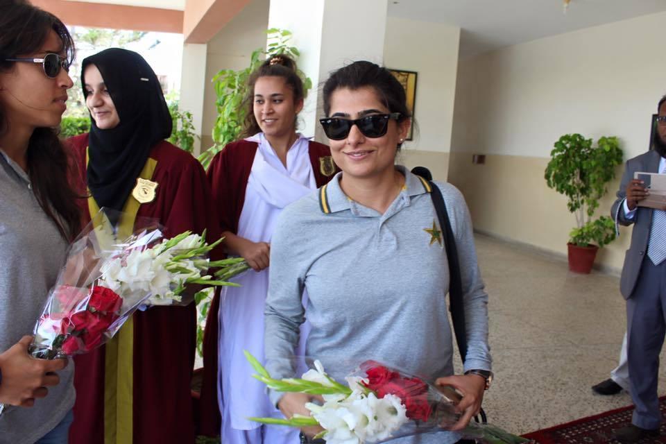 Sana Mir at her alma mater