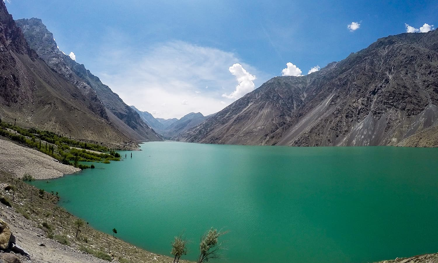 Satpara Lake — on the way from Skardu to Deosai National Park.