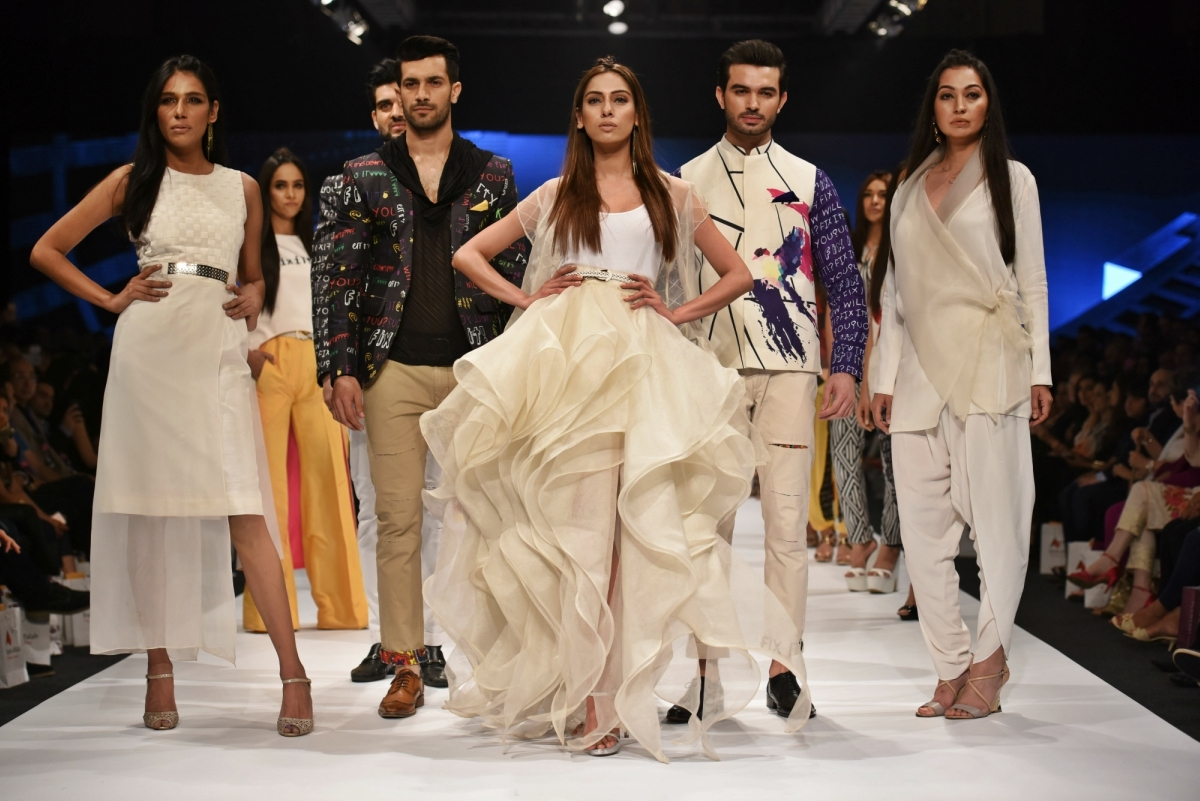 Deepak introduced some all-white ensembles in the existing Fix It line he showed at PSFW