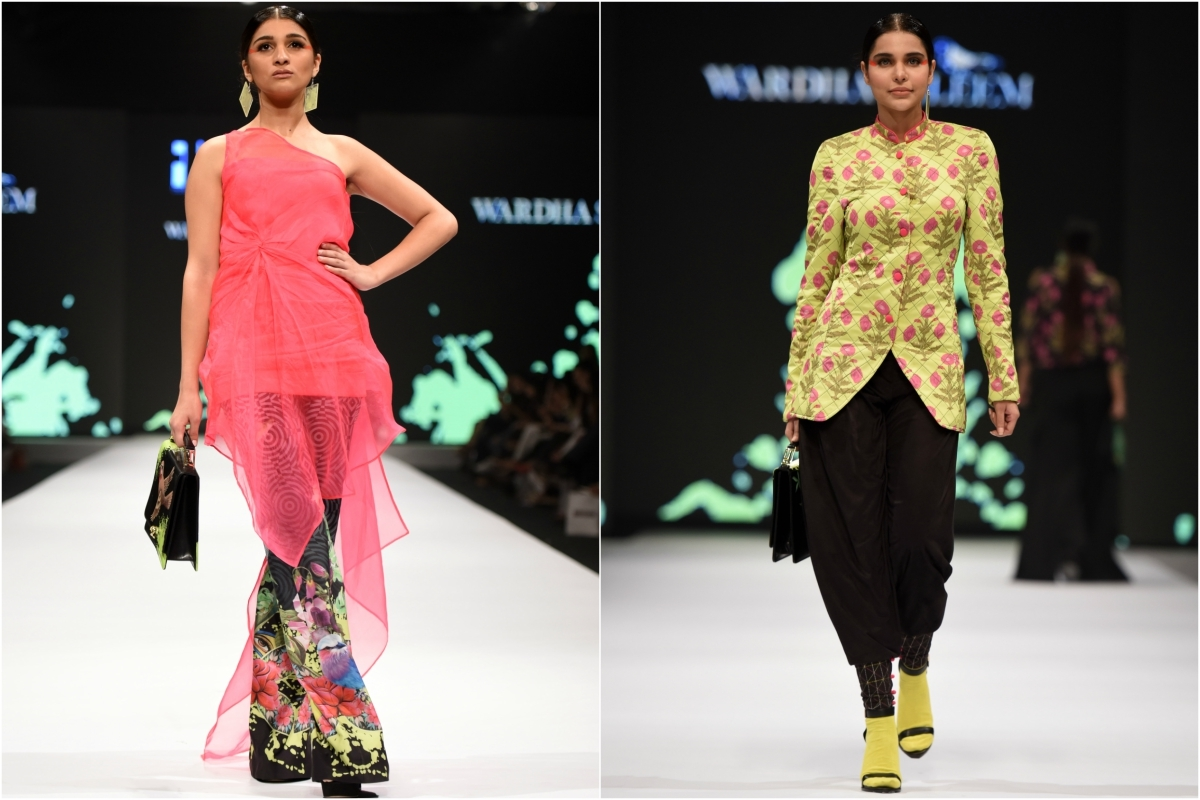 Some of Wardha's pieces like the boot-cut pants and high-collared tunics are set for retail