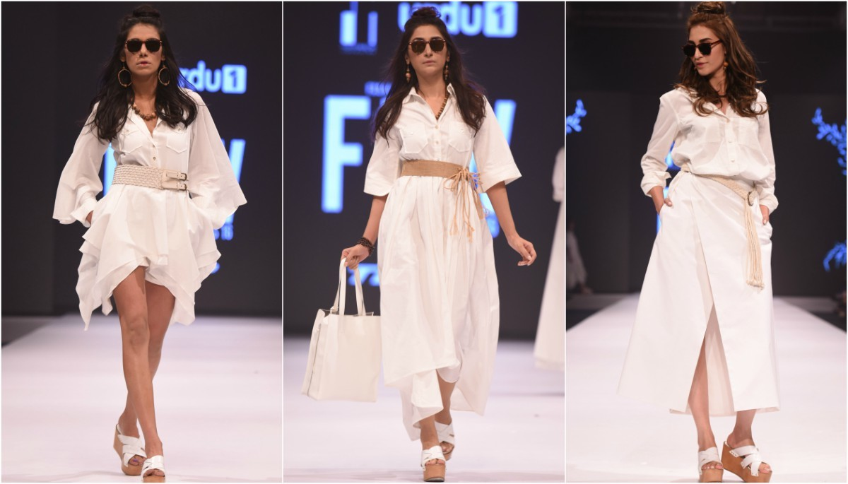 Zaheer Abbas' collection was a white-out