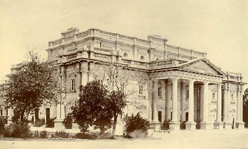 1890 کی دہائی میں لی گئی منٹگمری ہال کی تصویر۔