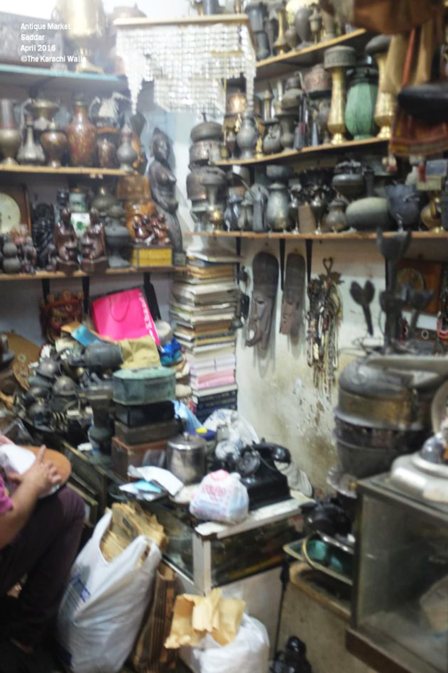An antique market in Karachi'
