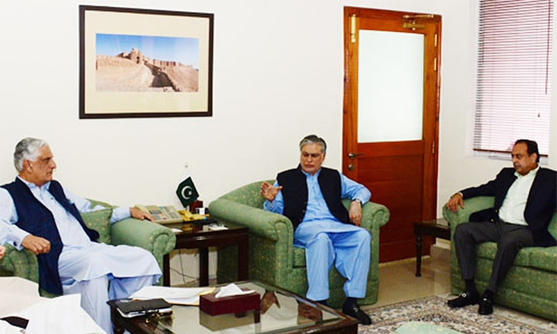 The meeting, presided over by Mr Dar, was attended by Law Minister Zahid Hamid, Minister of State for Information Technology Anusha Rehman, Attorney General Ashtar Ausaf Ali, Special Assistant to Prime Minister on Law Barrister Zafarullah Khan and Secretary to the Prime Minister Fawad Hassan Fawad.─Photo: PID