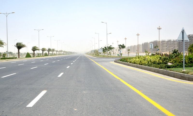A view of Jinnah Avenue, one of BTK's main MDA-financed thoroughfares. ─ Faysal Mujeeb/White Star