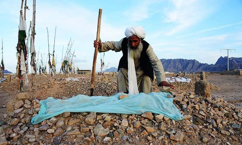 افغان صوبہ قندھار کے ضلع زیرئی میں موجود 'طالبان قبرستان'—۔فوٹو/اے ایف پی