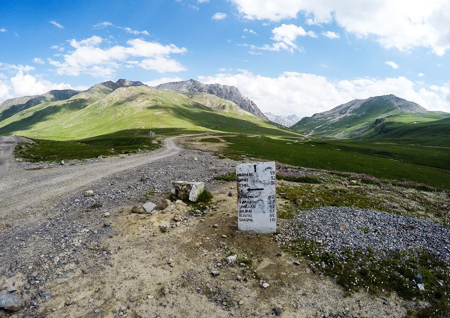 A milestone on the way to Minimarg.