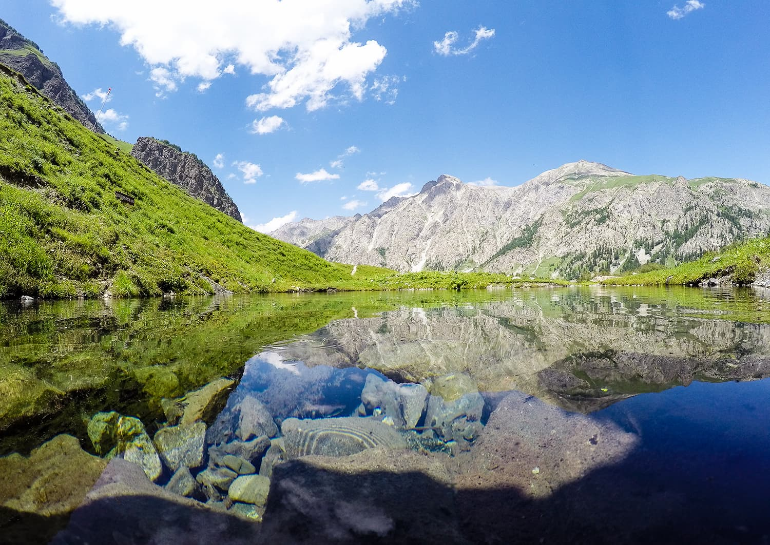The Rainbow Lake in Domail.