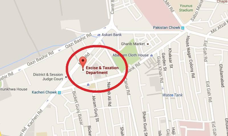 دھماکے کے مقام کا نقشہ—۔