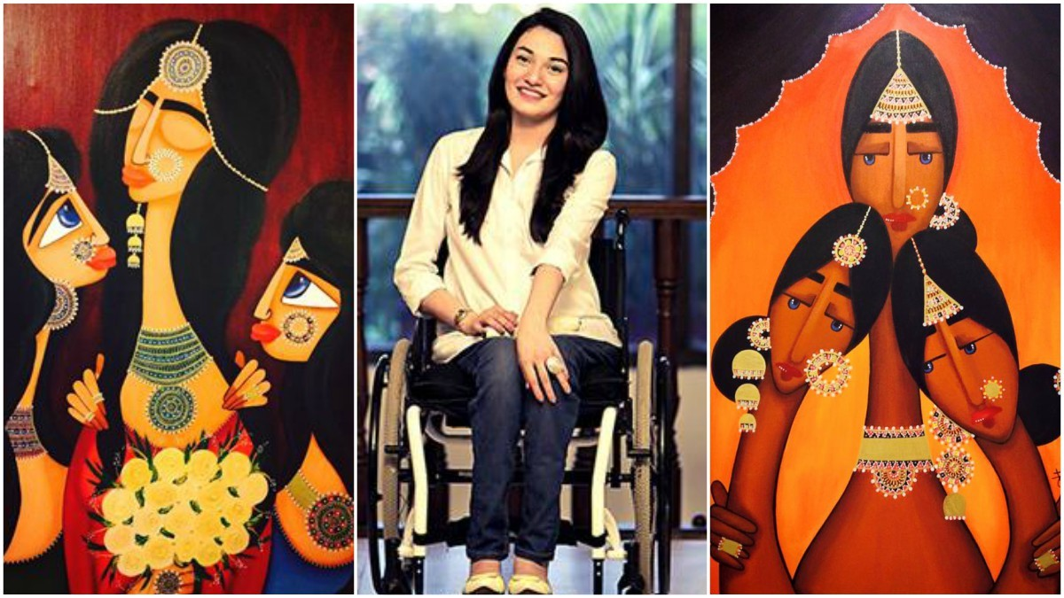 It's the only way I can spread the message of strength: Muniba Mazari on  her 'pain-tings' - Art & Culture - Images
