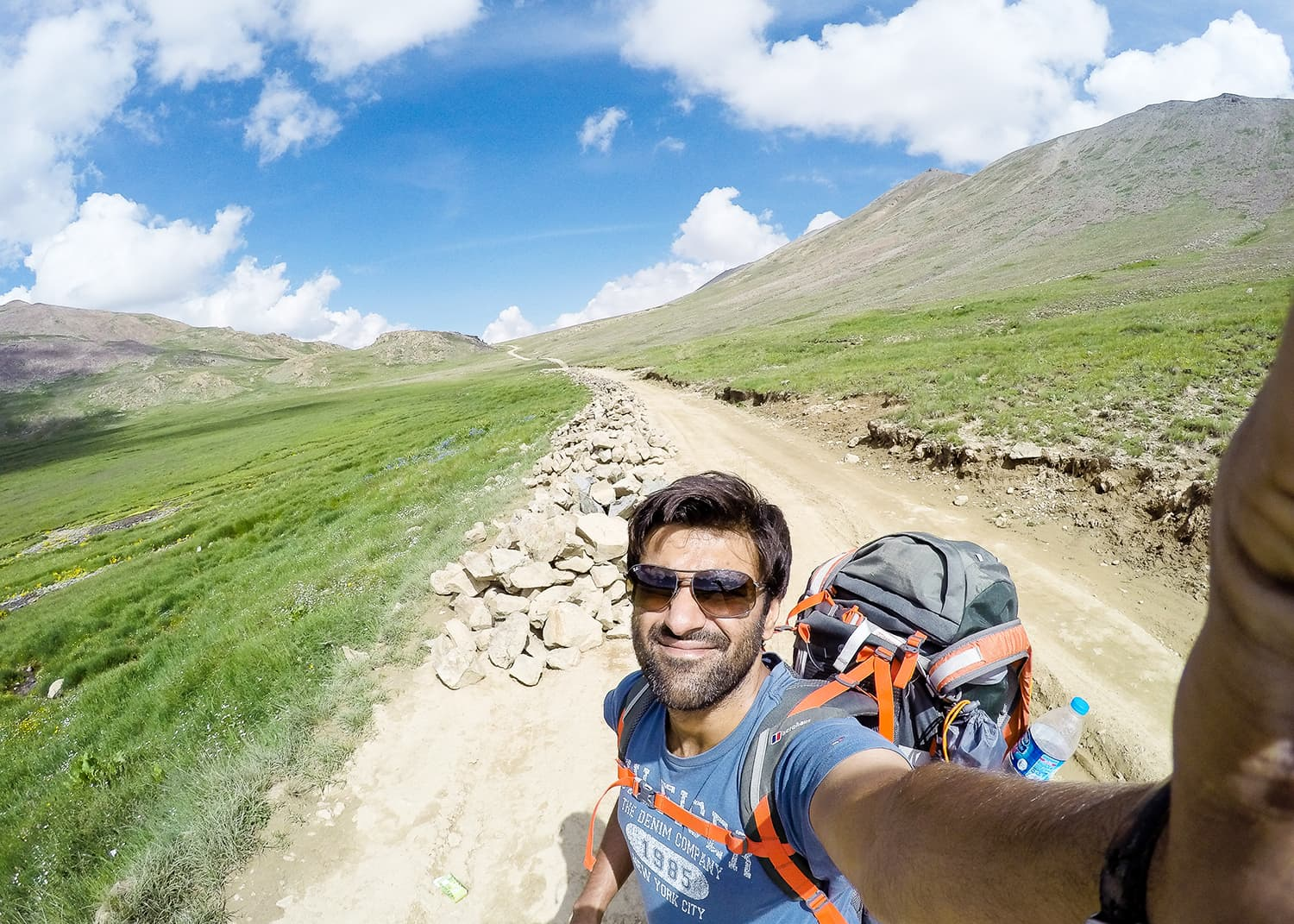 Hiking out of Deosai.