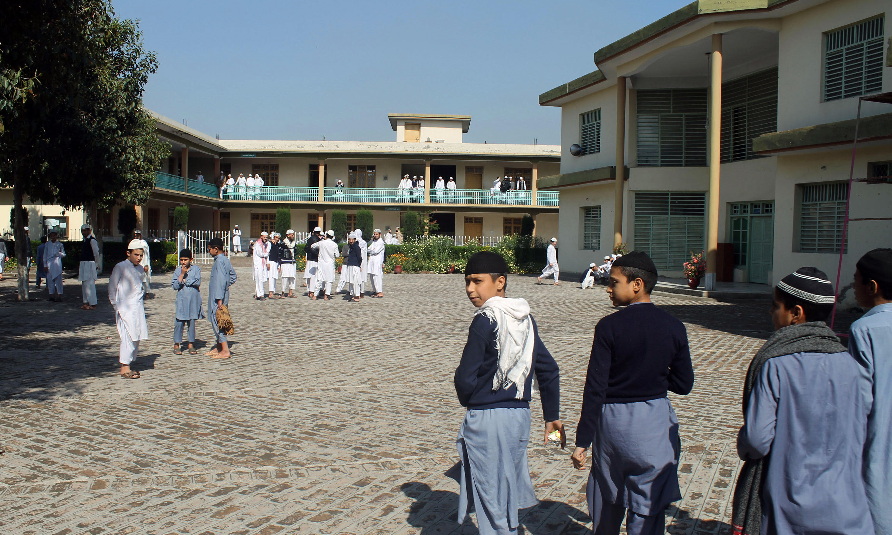 Students of Al-Jamiatul Asaria during their lunch break | Ghulam Dastageer