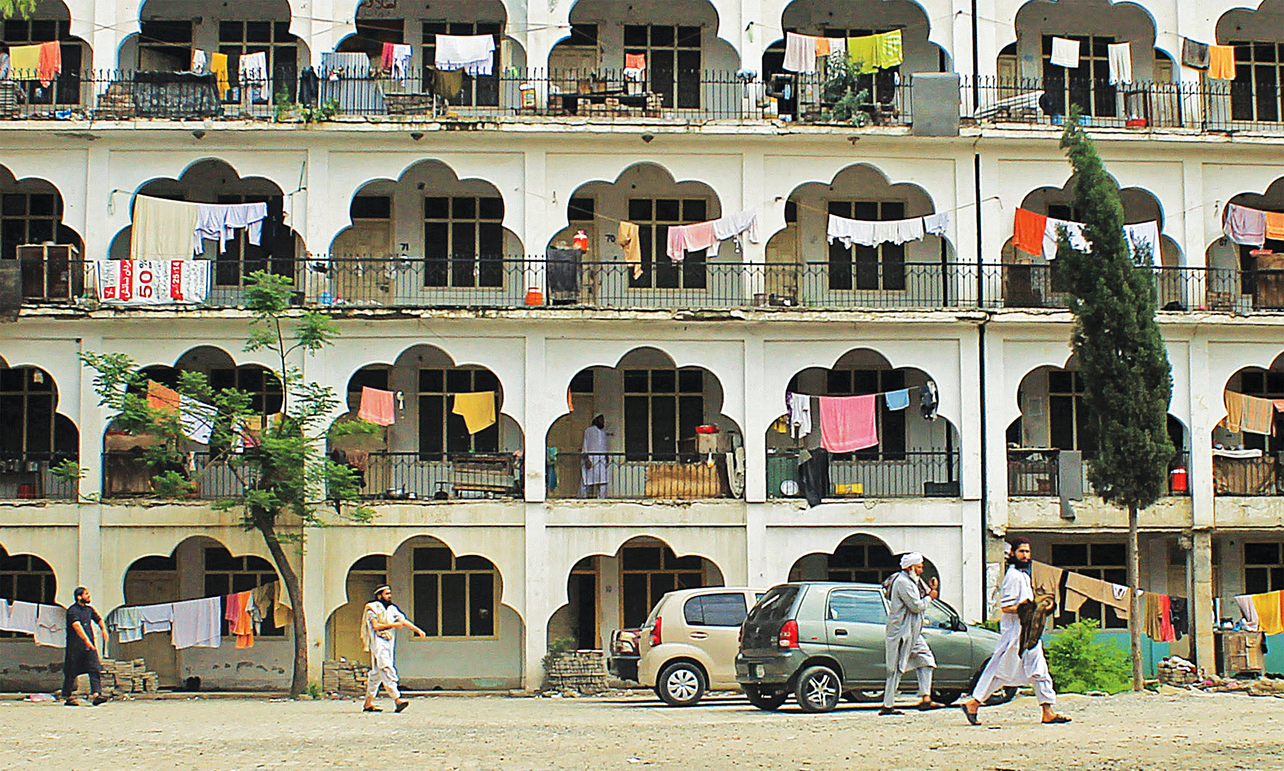 A view of  one of the hostels of Darul Uloom Haqqania, Akora Khattak | Ghulam Dastageer