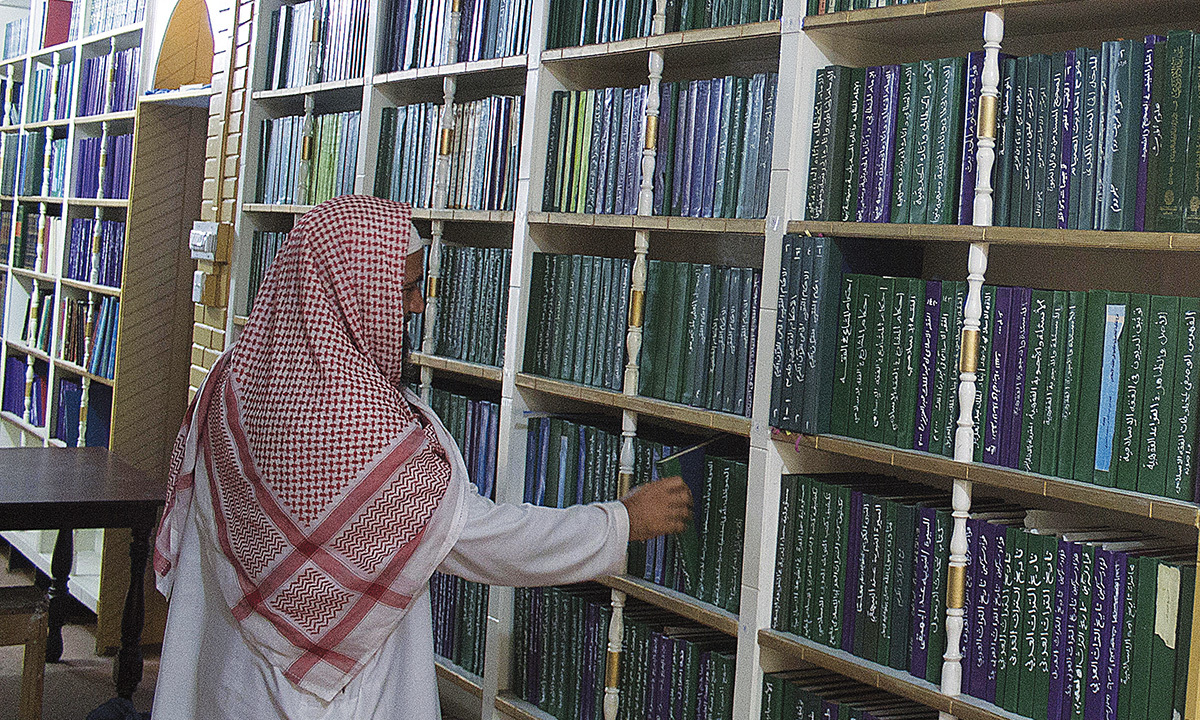 A library at the Ahl-e-Hadith madrasa, Peshawar | Ghulam Dastageer