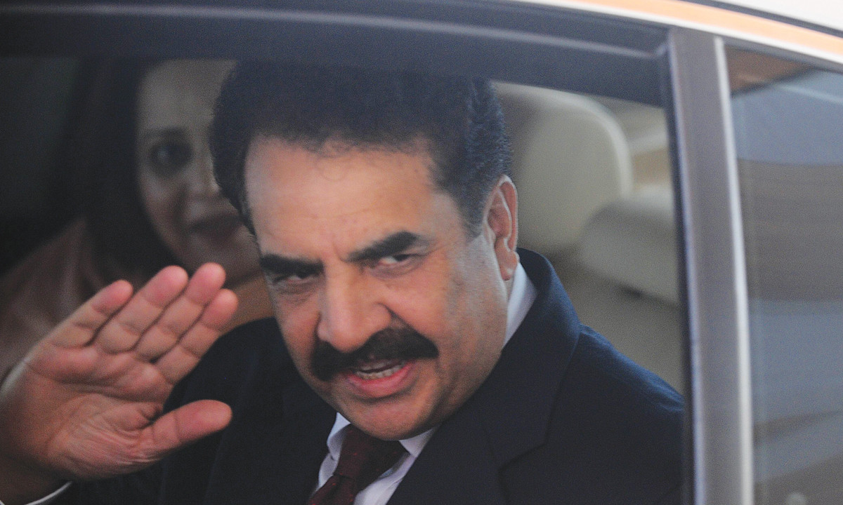 General Raheel Sharif arrives at the Bandaranaike International Airport in Katunayake on June 5, 2015|AFP