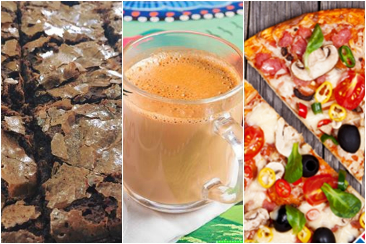 From L-R: Brownies by Sugaries, Chai Wala, Domino's