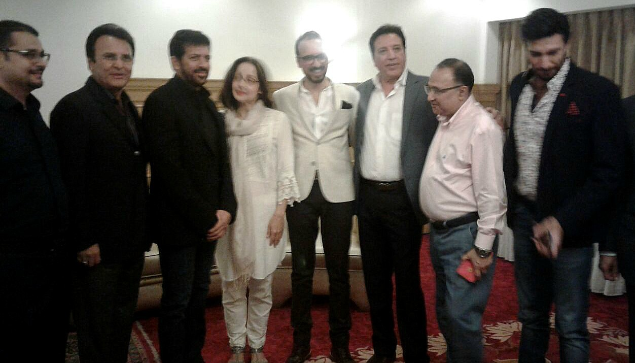 Kabir with members of Pakistan's film fraternity and MAP members