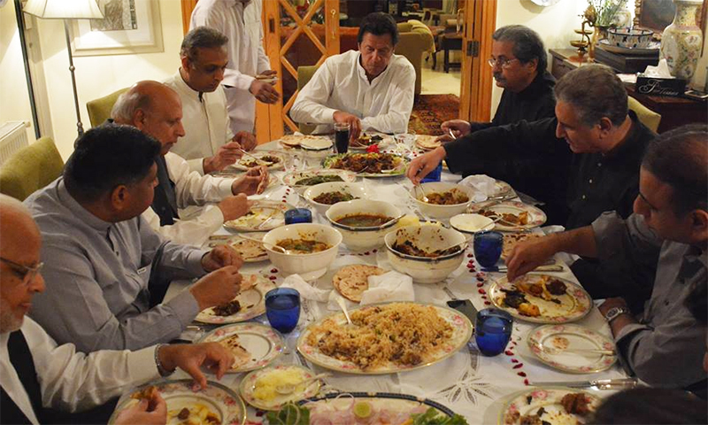 A heated argument reportedly broke out between Chaudhry Mohammad Sarwar and Shah Mehmood Qureshi on the dinner table during an informal gathering at PTI leader Jahangir Tareen's residence.─ JKT Facebook page