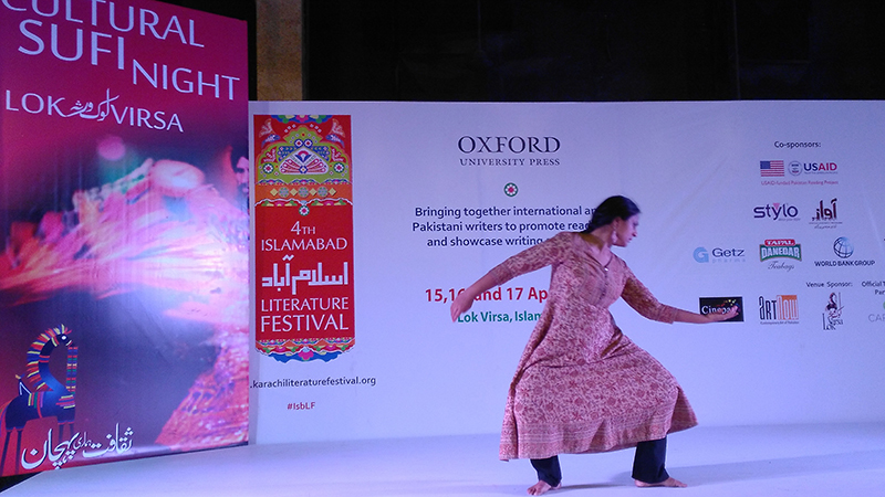 Shyama Saiyid performing a kathak dance at the ILF.