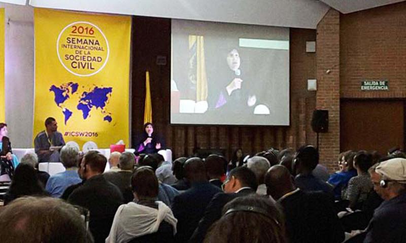 Tabassum Adnan speaks at the International Civil Society Week. —Photo: CIVICUS Alliance