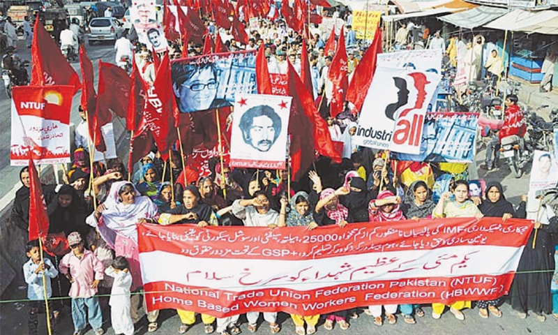 A May Day rally organised last year