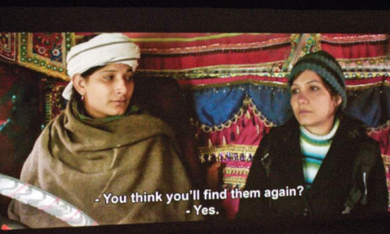 A scene from the movie Noor shown at PNCA on Saturday. — White Star