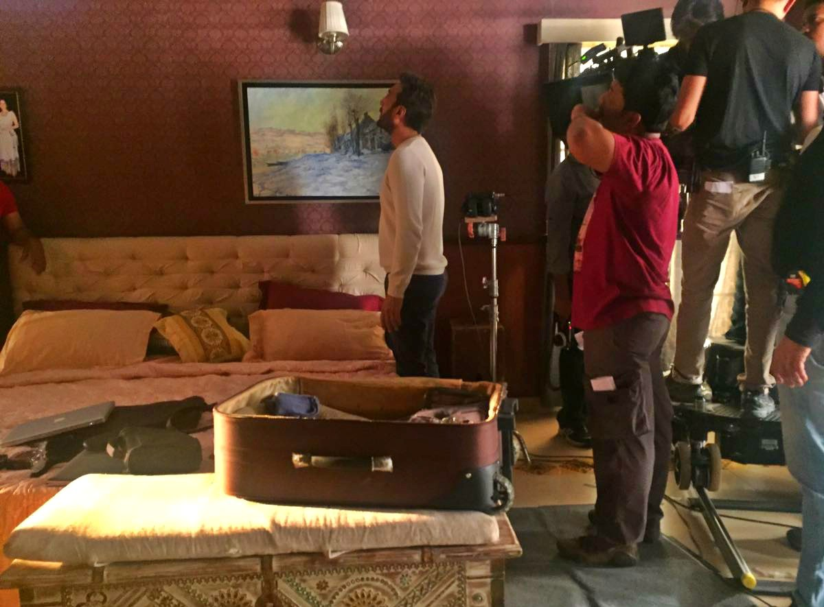 Caught in the act: Adnan shoots a scene in Mom