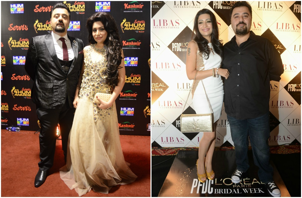 Ahmed and wife Faatima are a red carpet staple