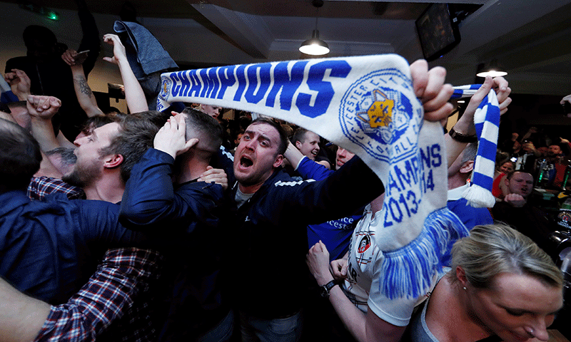 Underdogs Leicester win Premier League title as Spurs draw at Stamford Bridge