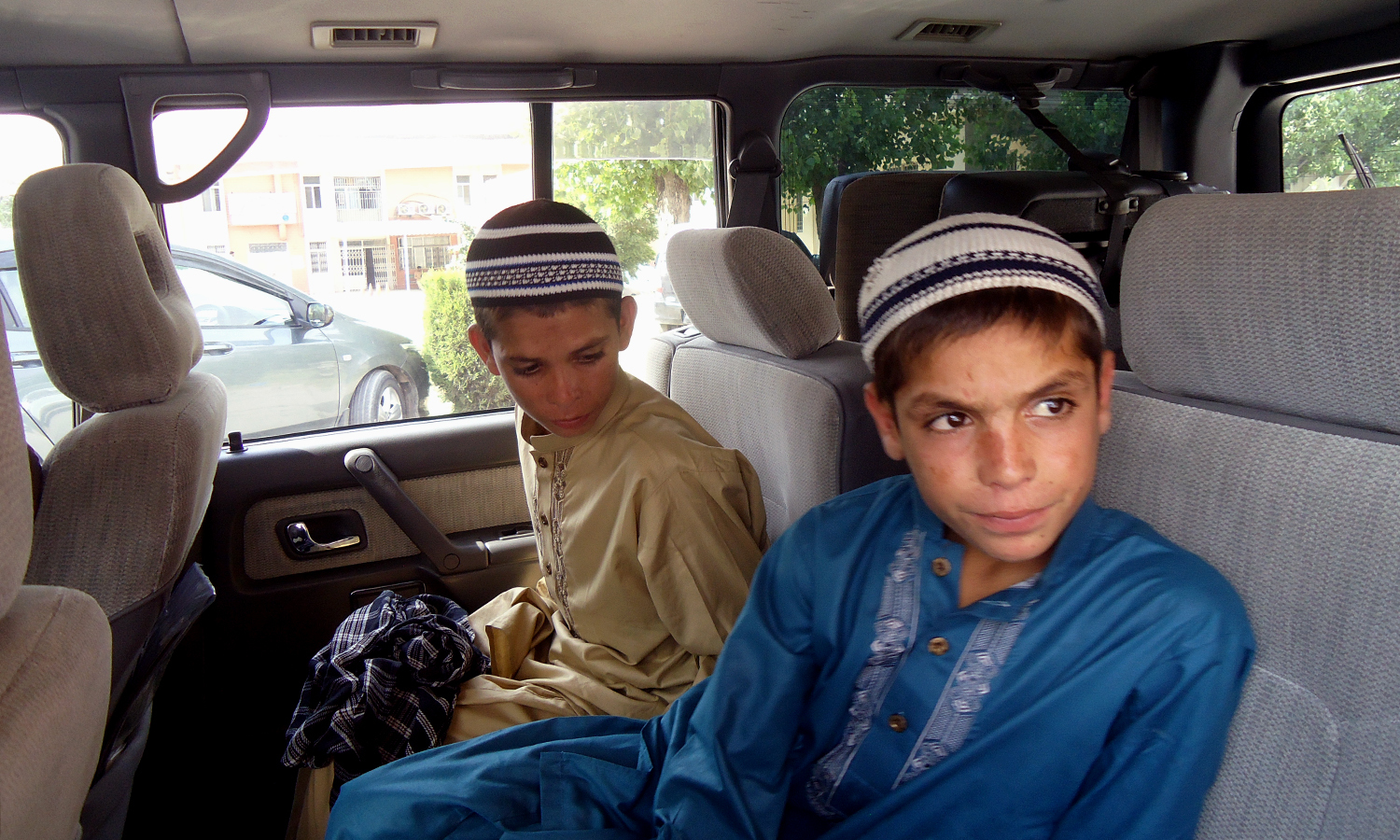 13-year-old Shoaib, nine-year-old Abdul Rashid were born with their movements synced to the sun. —Photo by the author