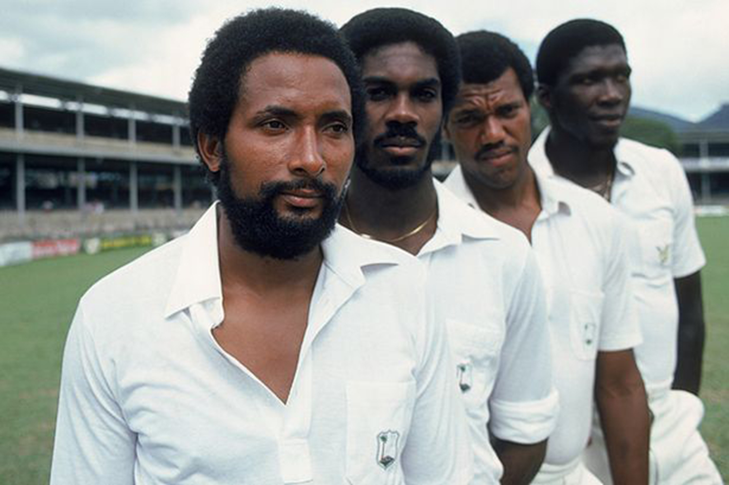 The fierce Windies' pace attack.