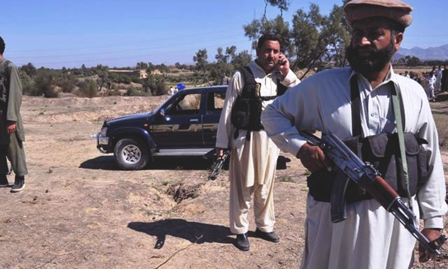 Security forces, peace militia fight off the marauding insurgents in Bajaur Agency. Photo: AFP/File