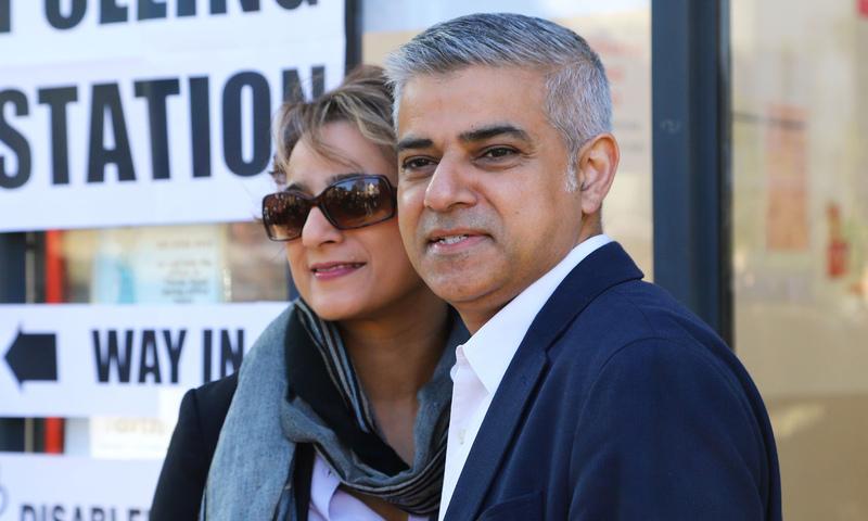 صادق خان مئی 2016 سے لندن کے میئر ہیں—فائل فوٹو: اے پی