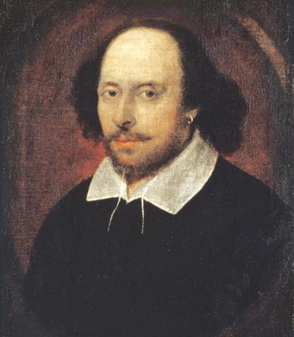 Chandos's Portrait of William Shakespeare, circa 1610-16.— Wikimedia Commons