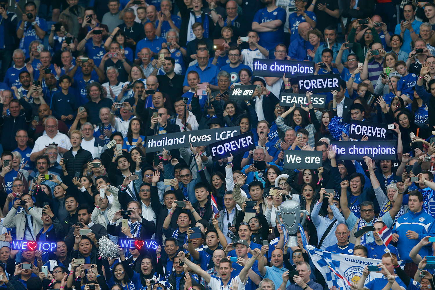 """""""Barcelona, we're coming for you!"""", chanted the Leicester fans, in a nod to next season's hotly anticipated Champions League campaign. — Reuters"""