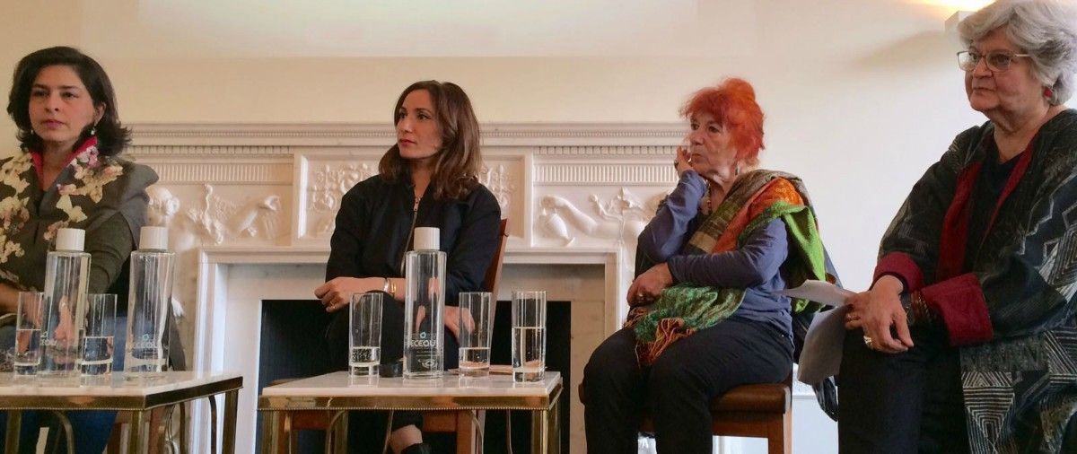 Writer Kamila Shamsie chaired a panel consisting of artists Faiza Butt and Naiza H. Khan, cultural critic and painter Salima Hashmi, and art historian Virginia Whiles
