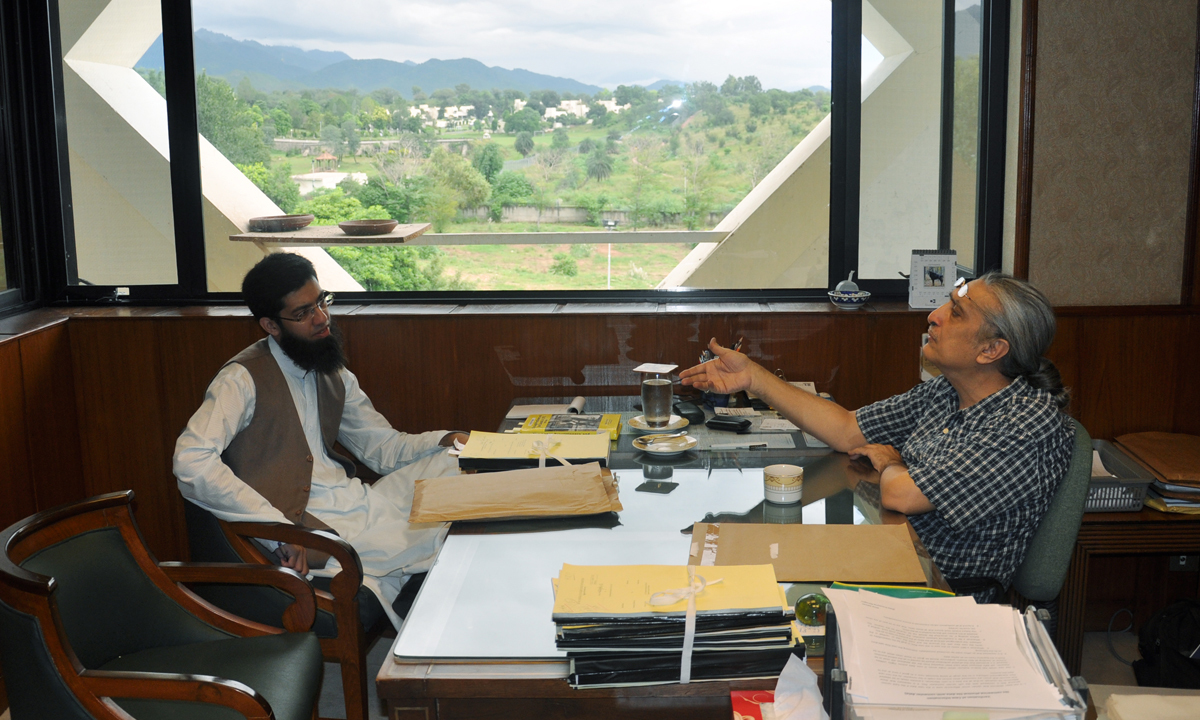 Justice Khawaja in his office at the Supreme Court | Courtesy Justice Khawaja