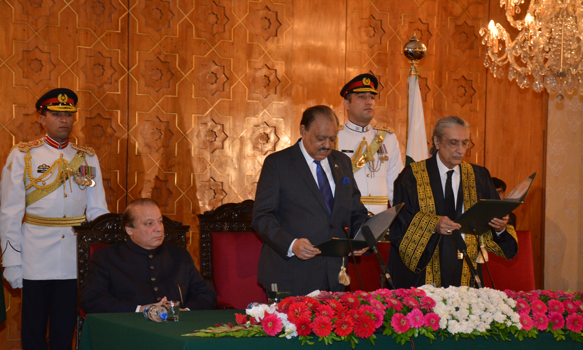 Justice Khawaja takes oath to become the 23rd Chief Justice of Pakistan | Courtesy Justice Khawaja