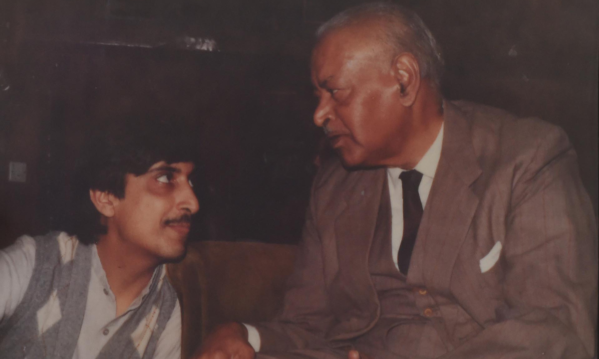 Justice Khawaja in his youth with his mentor Justice A R Cornelius | Courtesy Justice Khawaja