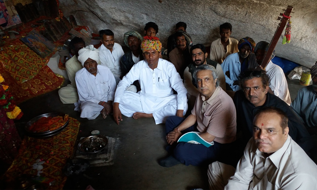 Justice Khawaja at the Temple of Kali Mai in Thar | Courtesy Justice Khawaja