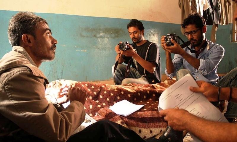 فلم کے پس پردہ مناظر — فوٹو بشکریہ احسن شاہ