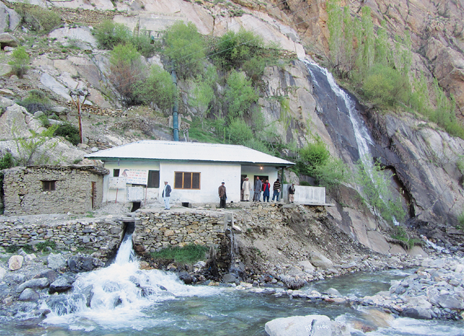 Micro Hydropwer project set up in Eizh village in Garam Chashma, Chitral -Photo by the writer