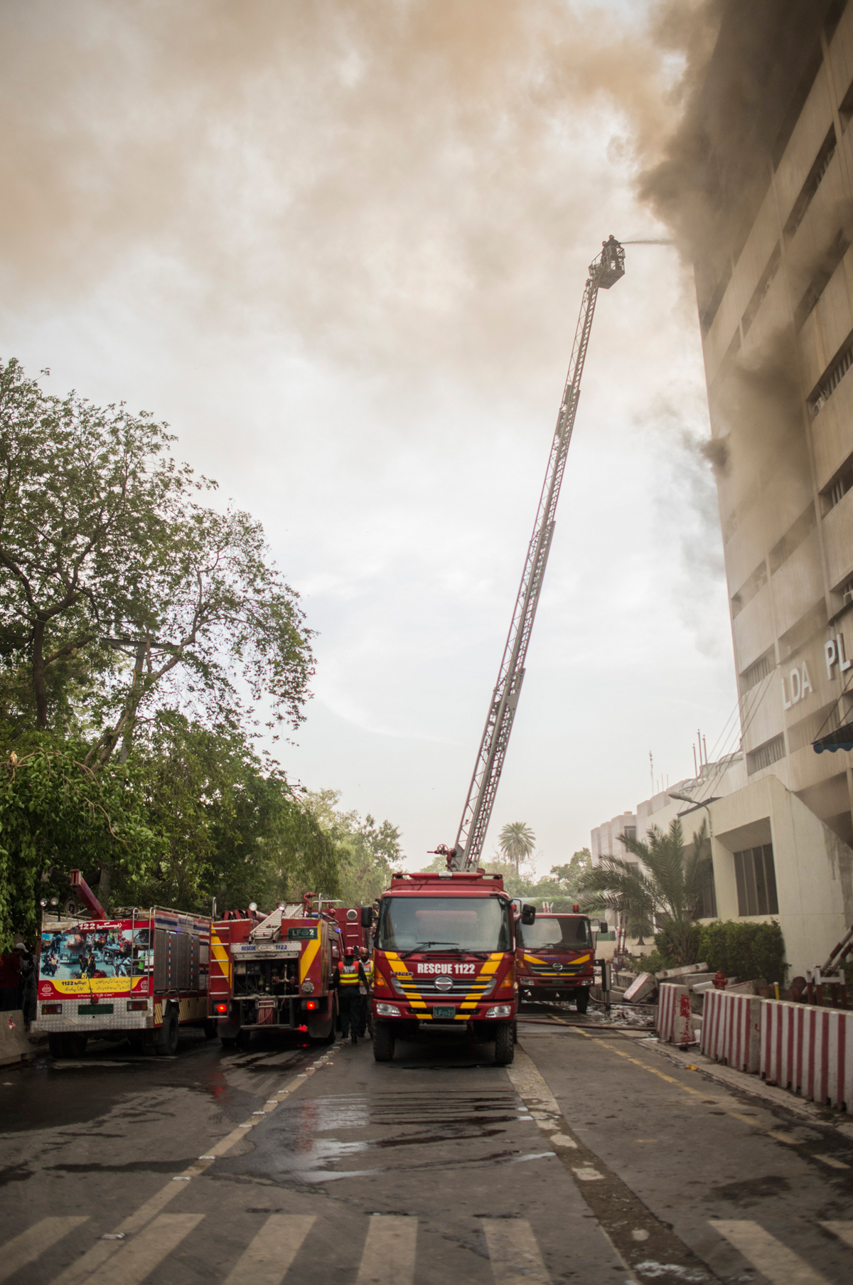 The firebrigade at LDA Plaza | saad Sarfaraz