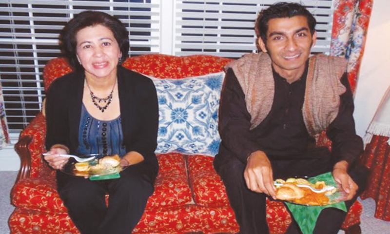 (Above) Martha and Junaid (Top right corner) Junaid Hafeez