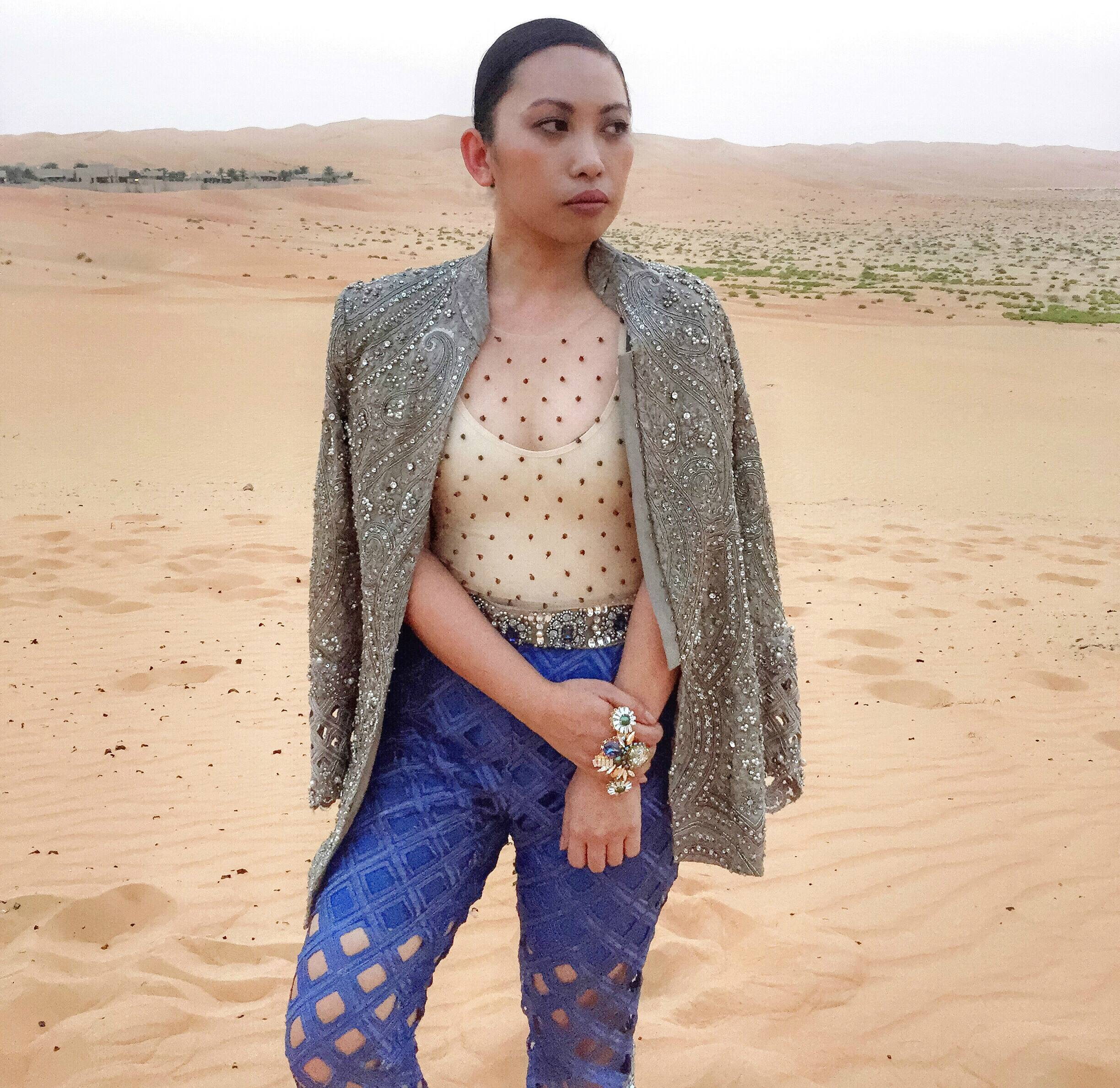 Maria B's design in the Neo-Arabia shoot