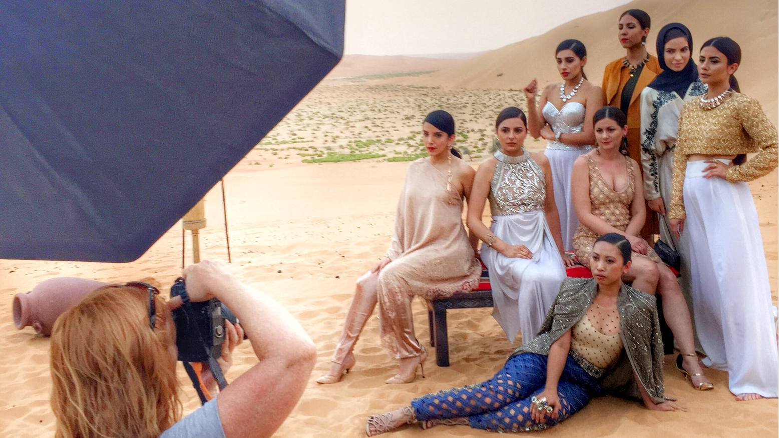 The Neo-Arabia shoot in progress