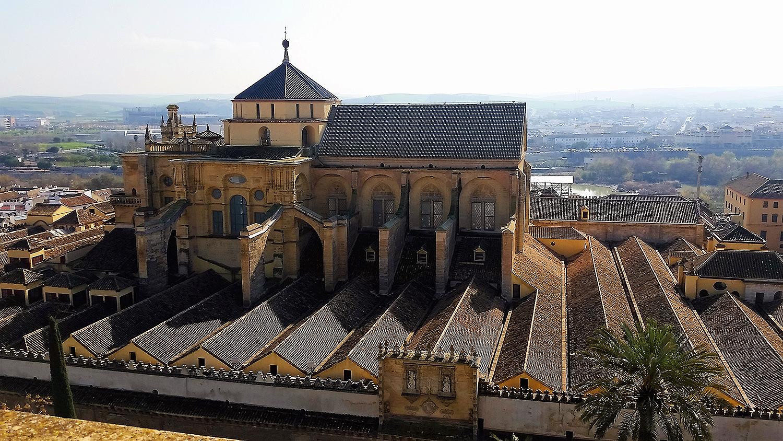 گھنٹا ٹاور سے مسجد کا نظارہ.— تصویر بشکریہ لکھاری