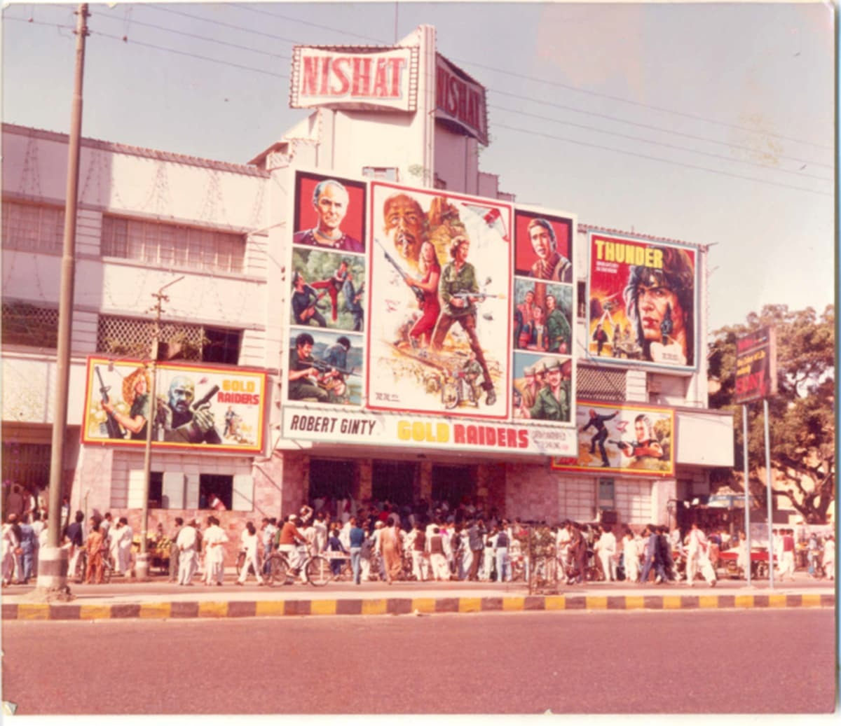 In the 1980s and 90s in Pakistan cinemas were few and far in between. The Nishat in Karachi was a popular cinema. Photo courtesy: The Citizens Archives of Pakistan