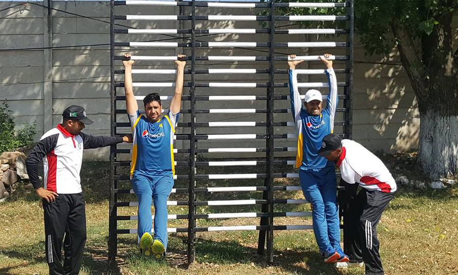 Cricketers given fitness training the military way at PMA Kakul