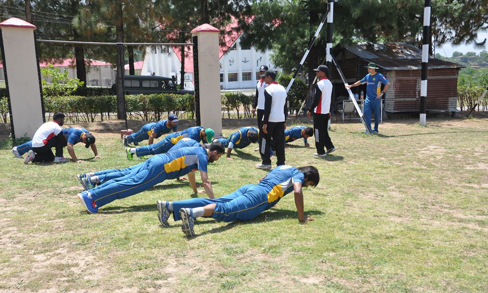 Misbah-ul- Haq and batsman Younis Khan are among the toppers in the fitness tests. —PCB facebook page